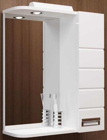 купить Зеркальный шкаф 60х72,6 см белый R Velvex Coletti Eggo zsEGG.60-21.11 по цене 5900 рублей