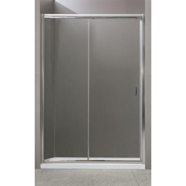 Душевая дверь раздвижная BelBagno Uno 125 см прозрачное стекло UNO-BF-1-125-C-Cr душевая дверь в нишу belbagno uno bf 1 130 профиль хром стекло прозрачное