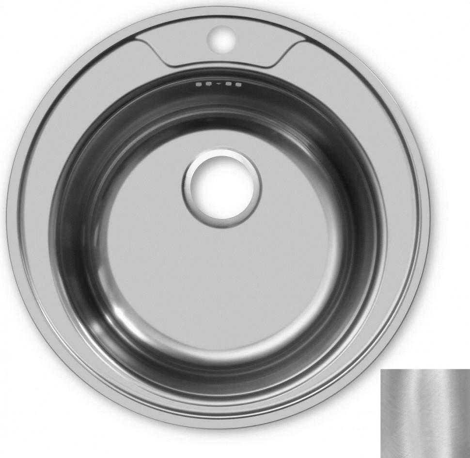 Кухонная мойка матовая сталь Ukinox Фаворит FAD490 -GT6K 0C кухонная мойка декоративная сталь ukinox фаворит fal577 447 gt6k 2l