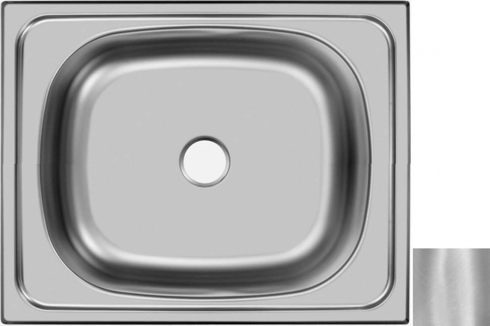 Кухонная мойка матовая сталь Ukinox Стандарт STD500.400 ---4C -C- мойка накладная ukinox стандарт eco4 левая 800х600х145мм матовая