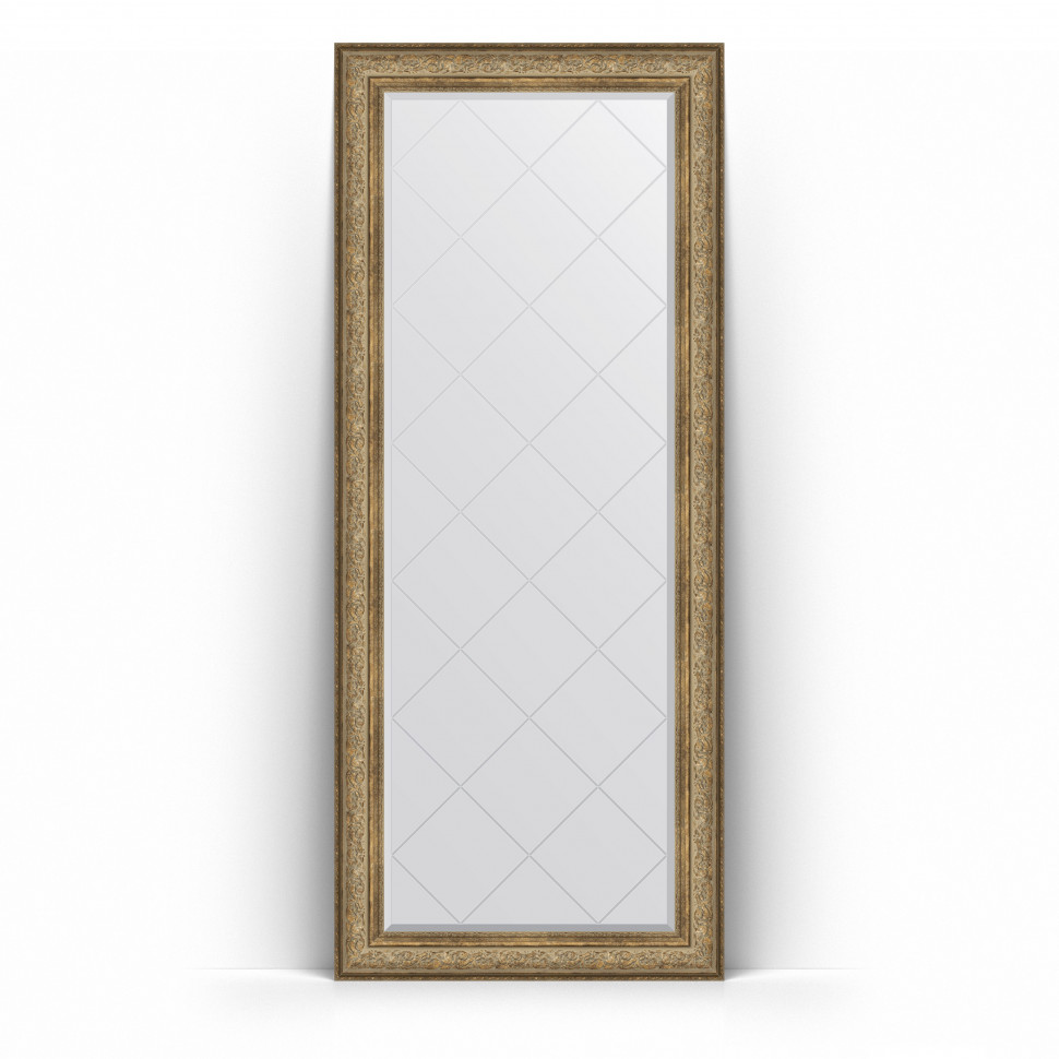 Фото - Зеркало напольное 85х205 см виньетка античная бронза Evoform Exclusive-G Floor BY 6335 зеркало 75х130 см виньетка античная бронза evoform exclusive g by 4230
