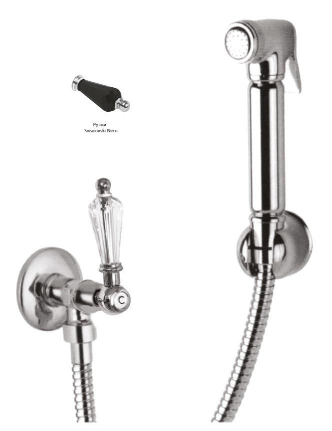 Гигиенический набор хром, ручка Swarovski Nero Cezares Diamond DIAMOND-KS-01-Sw-N стоимость