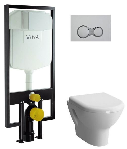 Комплект Vitra Zentrum 9012B003-7205 комплект vitra zentrum унитаз с сиденьем инсталляция кнопка хром 9012b003 7205