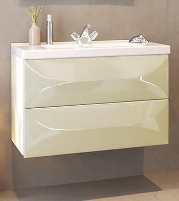 Тумба ваниль глянец 78,8 см Marka One Elegant У69406