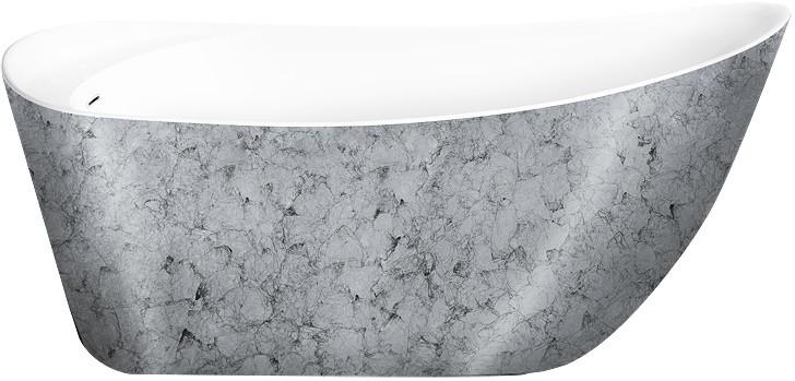 Акриловая ванна 170х76 см Lagard Minoti Treasure Silver lgd-mnt-ts