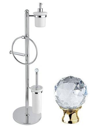 Комплект для туалета золото 24 карат, swarovski Cezares Olimp OLIMP-WBD-03/24-Sw крючок двойной cezares olimp hk 03 24 sw