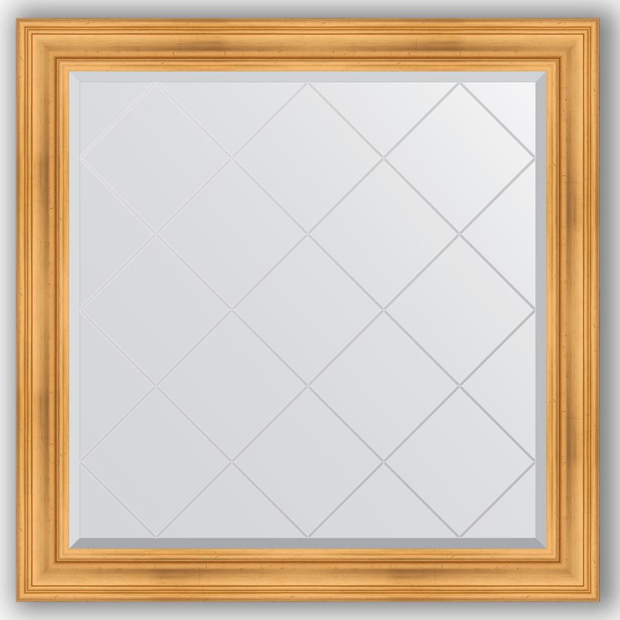 Зеркало 109х109 см травленое золото Evoform Exclusive-G BY 4460 зеркало evoform exclusive 176х116 травленое золото