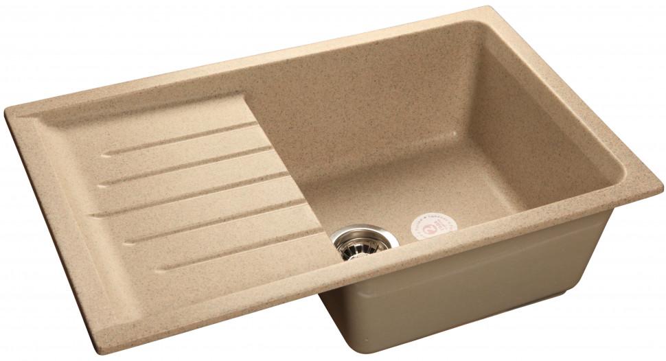 Кухонная мойка песочный GranFest Practic GF-P760L кухонная мойка granfest practic gf p780k терракот