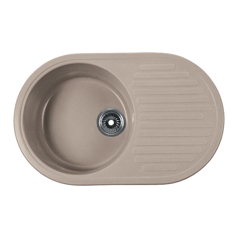 Кухонная мойка бежевый Rossinka RS74-46RW-Beige-Granite кухонная мойка бежевый rossinka rs51r beige granite