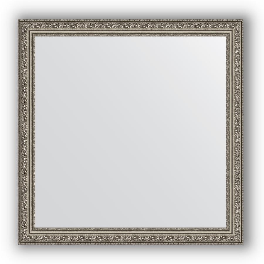 Фото - Зеркало 74х74 см виньетка состаренное серебро Evoform Definite BY 3232 зеркало 64х114 см виньетка состаренное серебро evoform definite by 3200