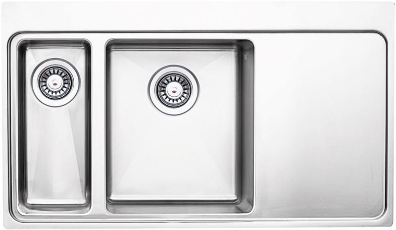 Кухонная мойка полированная сталь Longran Techno TEP860.510 51GT10P 2L