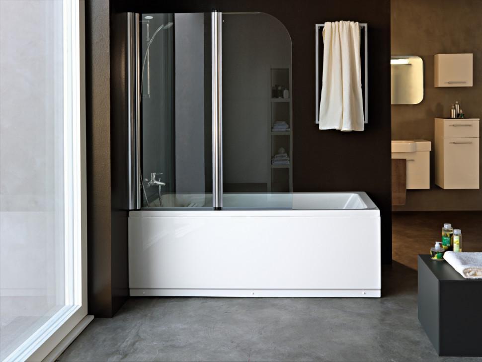 Шторка для ванны 112 см Kolpa San Sole TP прозрачное
