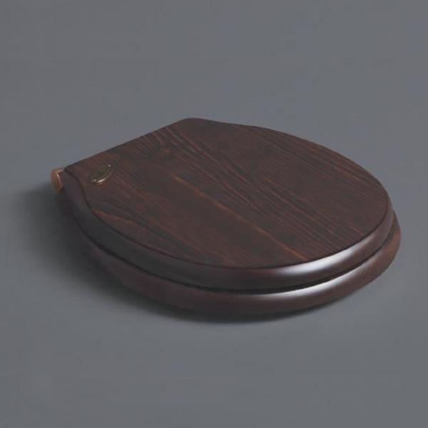 Сиденье для унитаза с микролифтом орех/бронза Simas Londra LO009noce/br