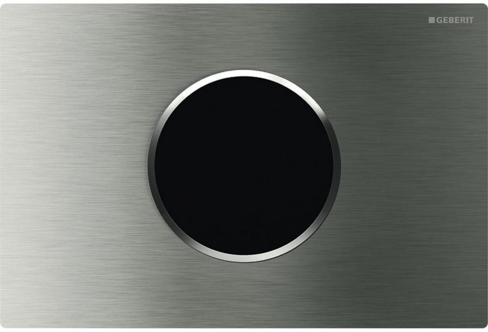 Смывная клавиша Geberit Sigma10 нержавеющая сталь, питание от сети, автоматический / бесконтактный смыв 115.907.SN.1 фото