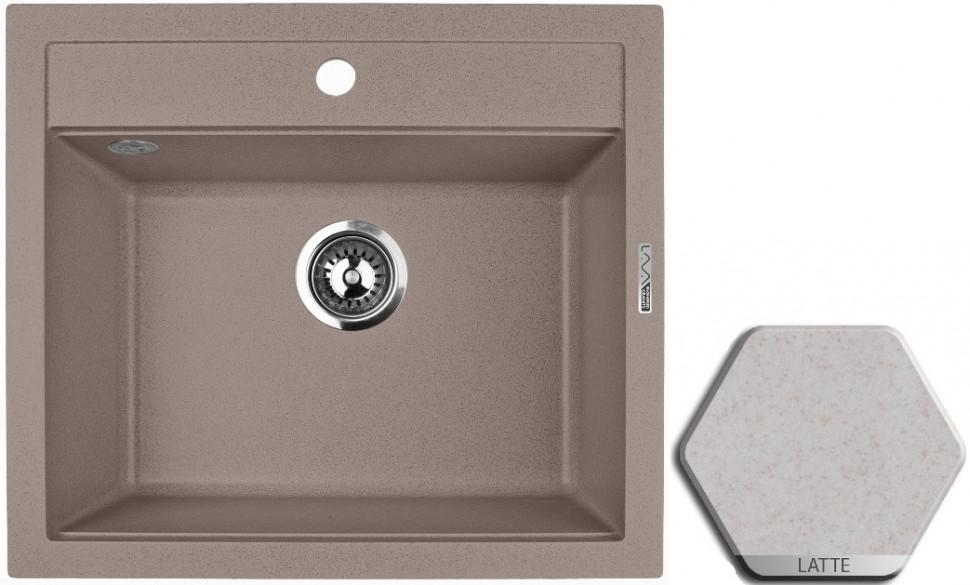 Кухонная мойка LATTE Lava Q2.LAT lava q2 серый q2 sca