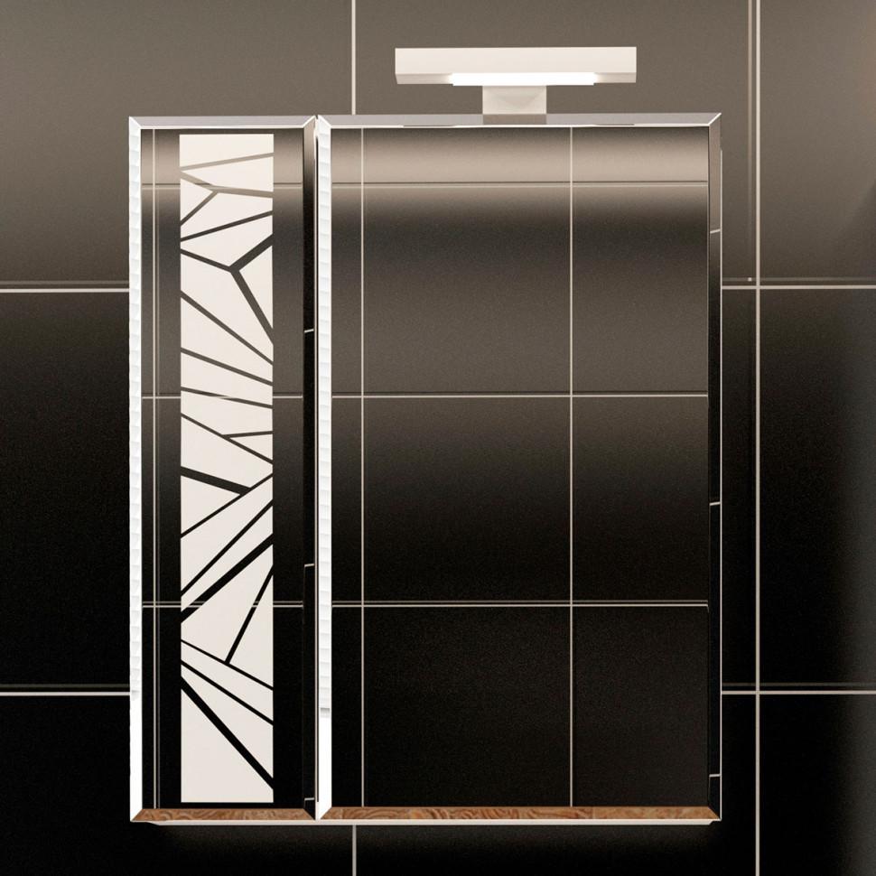 Зеркальный шкаф 60х78 см белый R Velvex Coletti zsCOL.60-11