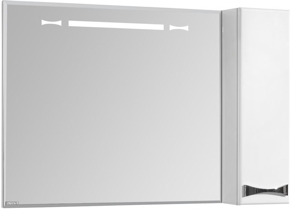 Зеркальный шкаф 100х86,8 см белый глянец R Акватон Диор 1A167902DR01R зеркальный шкаф 65х85 см белый глянец r акватон домус 1a166202ll01r