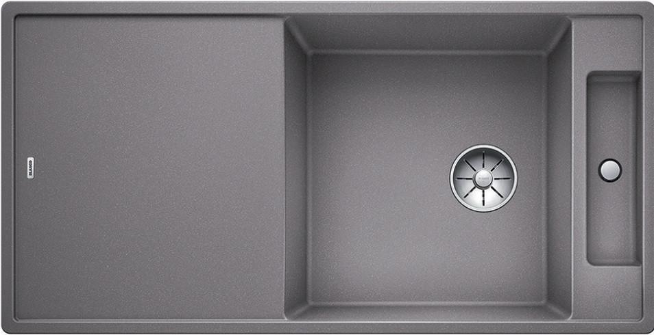 Кухонная мойка Blanco Axia III XL 6 S-F InFino алюметаллик 523528 кухонная мойка blanco axia iii xl 6 s f infino silgranit алюметаллик доска стекло 523528