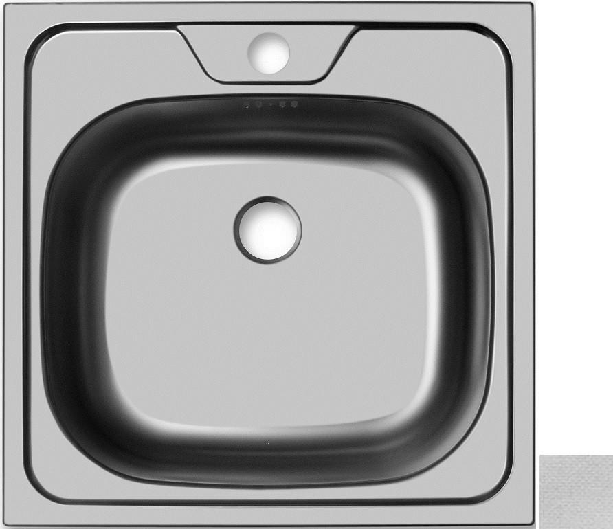Кухонная мойка декоративная сталь Ukinox Классика CLL480.480 -GT6C 0C фото
