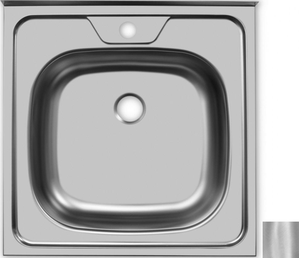 Кухонная мойка матовая сталь Ukinox Стандарт STD500.500 ---4C 0C- мойка накладная ukinox стандарт eco4 левая 800х600х145мм матовая