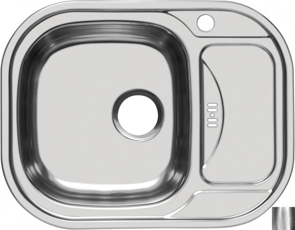 Кухонная мойка полированная сталь Ukinox Галант GAP628.488 -GW8K 2L кухонная мойка полированная сталь ukinox фаворит fap770 480 gw8k 2l