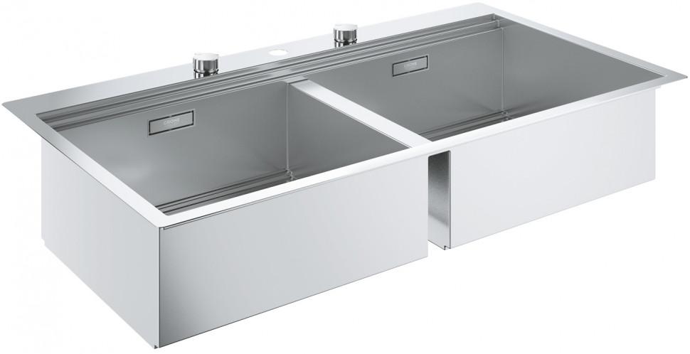 Кухонная мойка Grohe K800 нержавеющая сталь 31585SD0 мойка кухонная grohe k700u 31577sd0