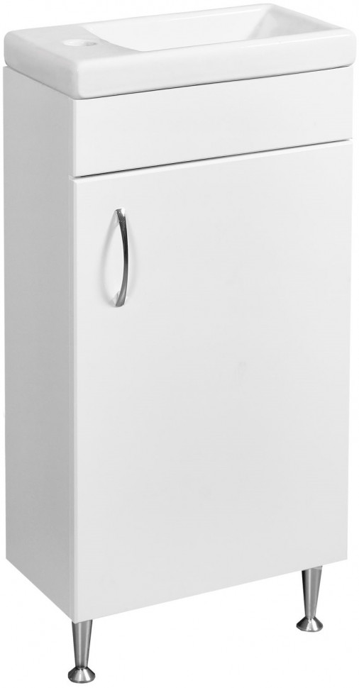 Тумба белый глянец/белый матовый 39,5 см Stella Polar Концепт SP-00000232