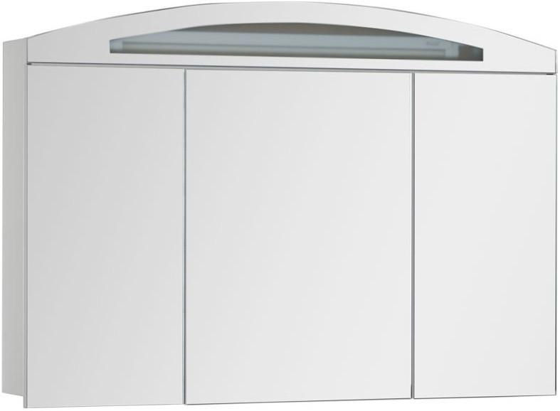 Зеркальный шкаф 120х84 см с подсветкой белый Aquanet Тренто 00156488 недорого