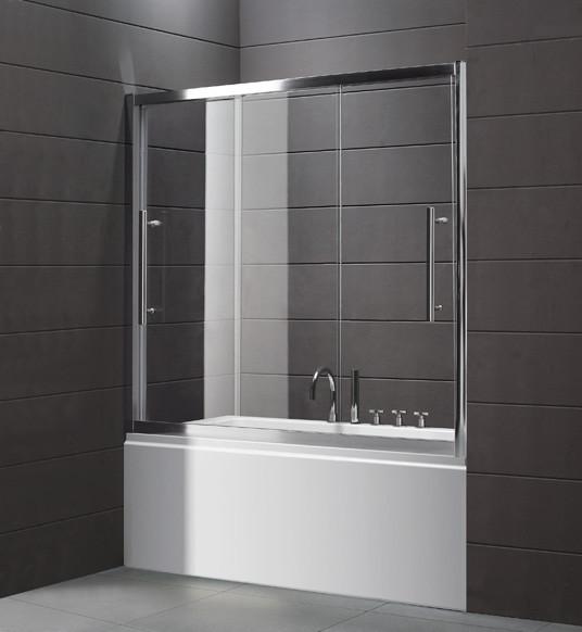 Шторка для ванны Cezares Trio 150 см прозрачное стекло TRIO-D-V-22-150/145-C-Cr