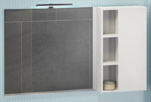Зеркальный шкаф 118х80 см белый глянец Comforty Милан 00004136261 мозаика gc554slb a 013 a012 a011 a041 25x25 295х295 1 7405 20pcs 1 7405