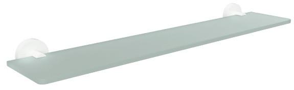 Полка стеклянная 60 см Bemeta White 104102044 фото