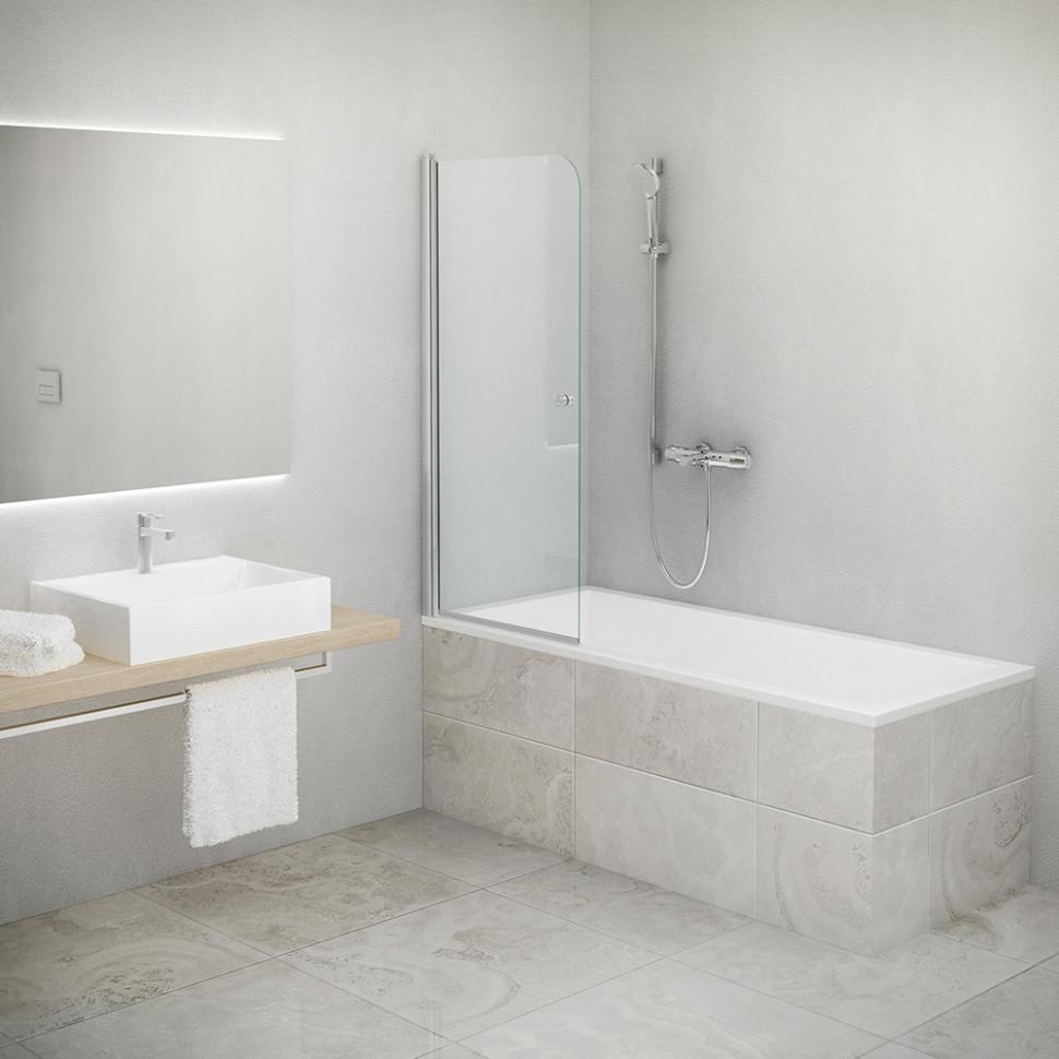 Шторка для ванны Roltechnik TV1/700 706-7000000-01-02 прозрачное