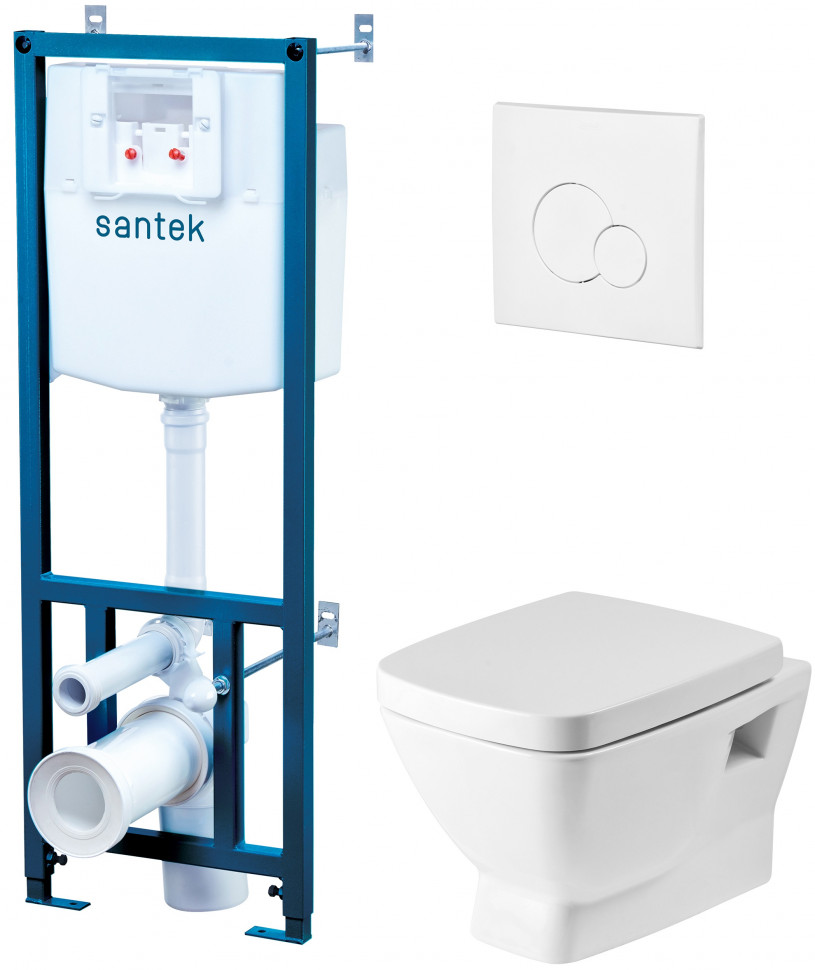 Комплект подвесной унитаз + система инсталляции Santek Нео 1.WH30.2.463 фото