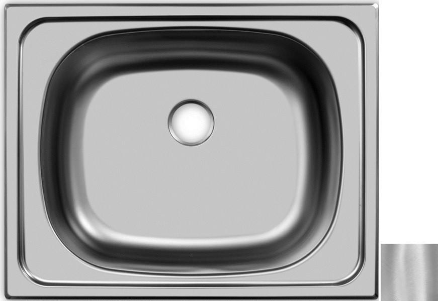 цена Кухонная мойка матовая сталь Ukinox Классика CLM500.400 ---5C -C