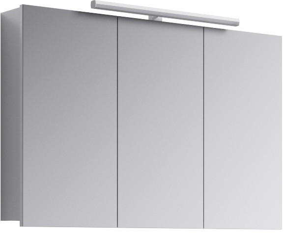 Зеркальный шкаф 100х65 см с подсветкой Aqwella 5 Stars Broadway Brw.04.10 зеркальный шкаф bellezza миа 85 с подсветкой l белый