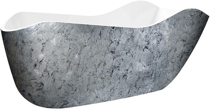Акриловая ванна 172,5х79,5 см Lagard Teona Treasure Silver lgd-tna-ts