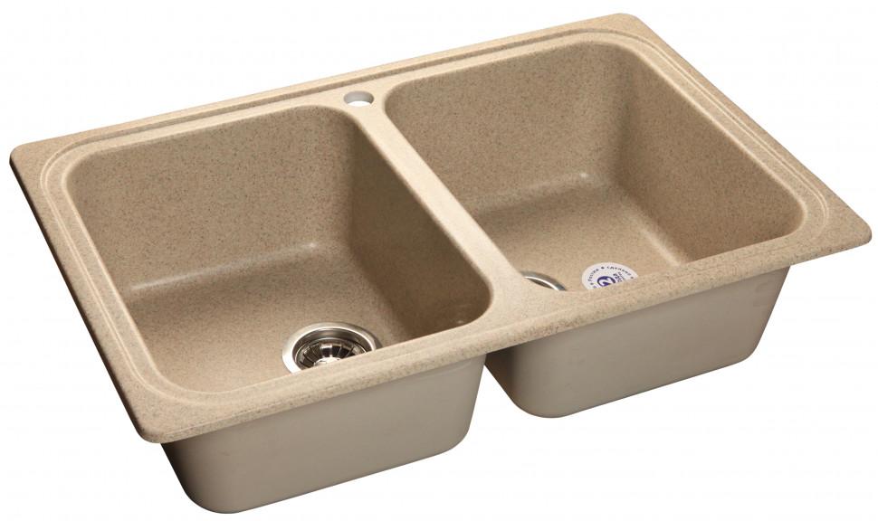 Кухонная мойка песочный GranFest Standart GF-S780K мойка кухонная granfest гранит 780x510 gf s780k бежевая