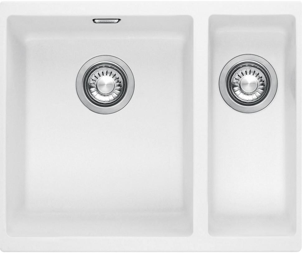 Фото - Кухонная мойка Tectonite Franke Sirius SID 160 полярный белый 125.0443.364 врезная кухонная мойка 56 см franke sid 610 полярный белый