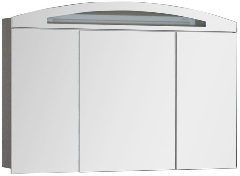Зеркальный шкаф 120х84 см с подсветкой венге Aquanet Тренто 00156445 раковина aquanet тренто 152905