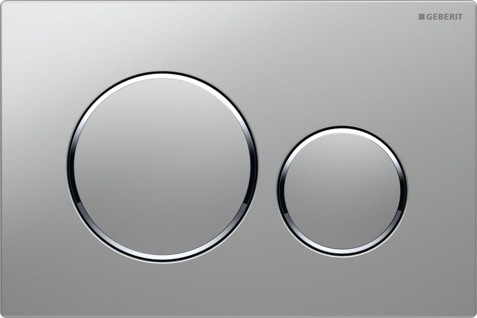 Смывная клавиша Geberit Sigma20 матовый хром/глянцевый хром/матовый хром для двойного смыва 115.882.KN.1 цена и фото