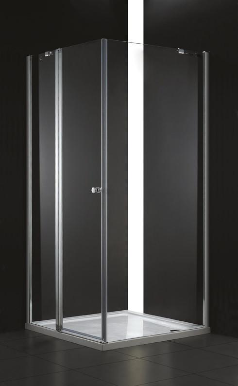 Душевой уголок Cezares Elena 90x90 см текстурное стекло ELENA-W-A-12-90-P-Cr-L