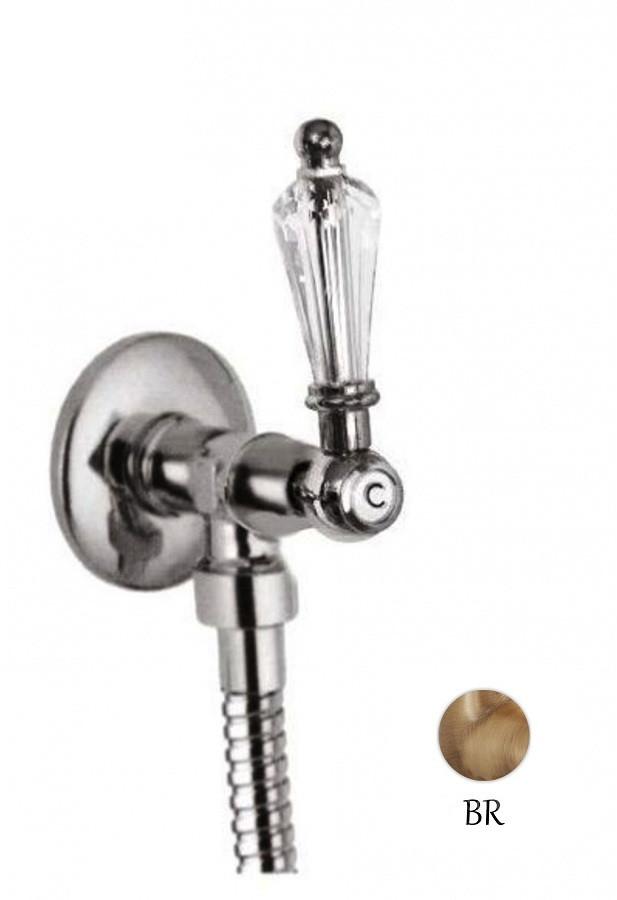 Запорный вентиль бронза, ручка Swarovski Cezares Diamond DIAMOND-VL-02-Sw
