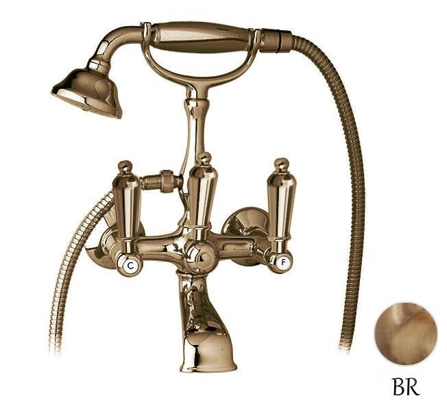 Смеситель для ванны с ручным душем бронза, ручки металл Cezares First FIRST-VD-02-M cecelia dowdy first mates