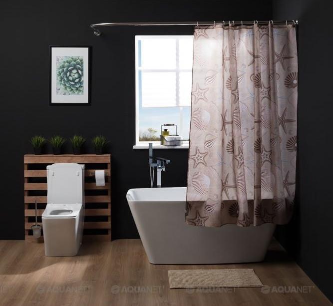 Штора для ванной комнаты Aquanet Морские Звезды SC7004B стакан для ванной комнаты verran luma 251 25 серебристый