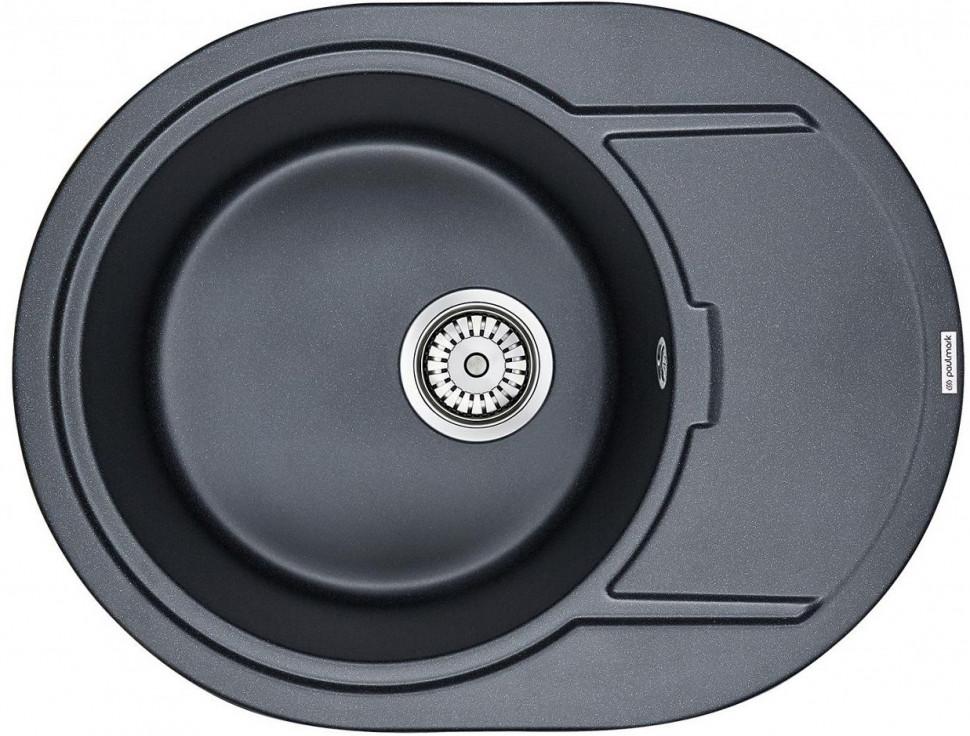 Кухонная мойка Paulmark Oval черный металлик PM316502-BLM