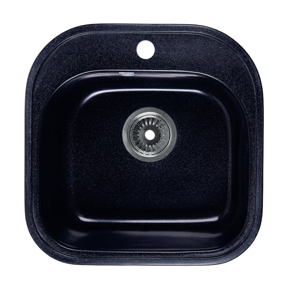 Кухонная мойка черный Rossinka RS48-49S-Black цена