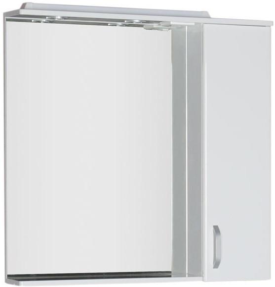 купить Зеркальный шкаф 88,6х86,7 см с подсветкой белый Aquanet Глория 00171603 дешево