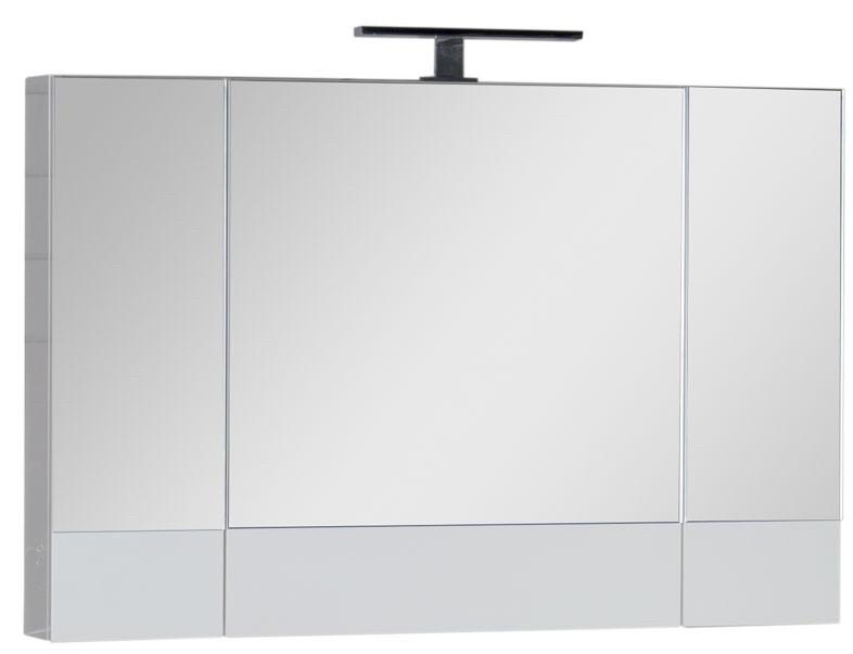 Зеркальный шкаф 100х67 см белый Aquanet Нота 00165372