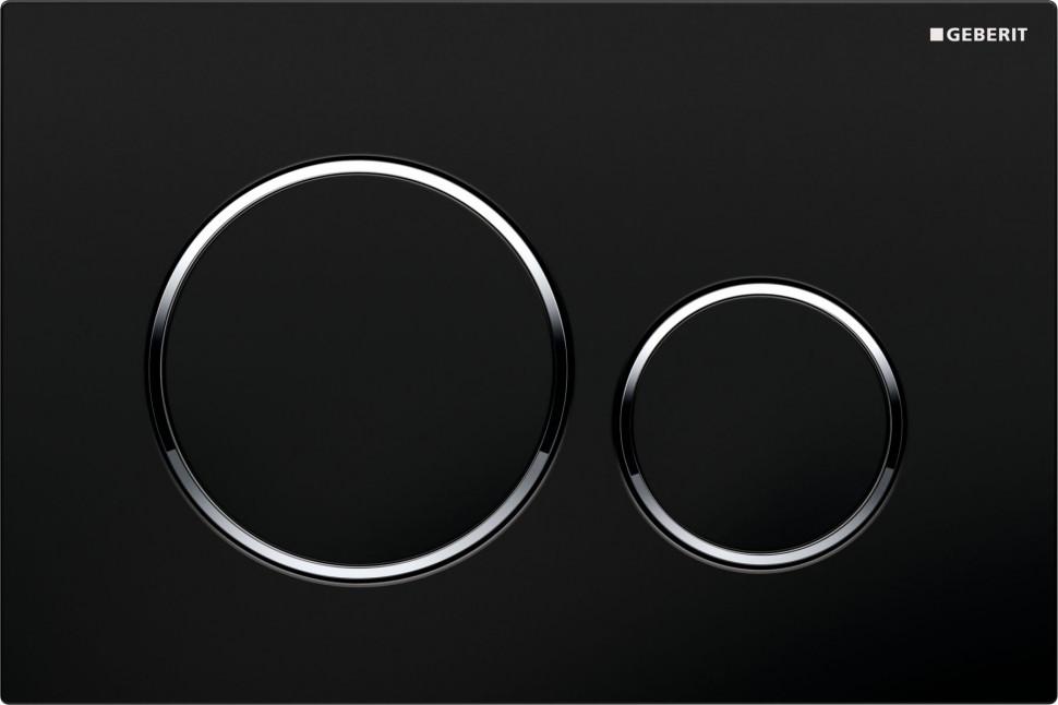 Смывная клавиша Geberit Sigma20 черный/глянцевый хром/черный для двойного смыва 115.882.KM.1 смывная клавиша geberit sigma 21 мустанг глянцевый хром мустанг 115 884 jm 1