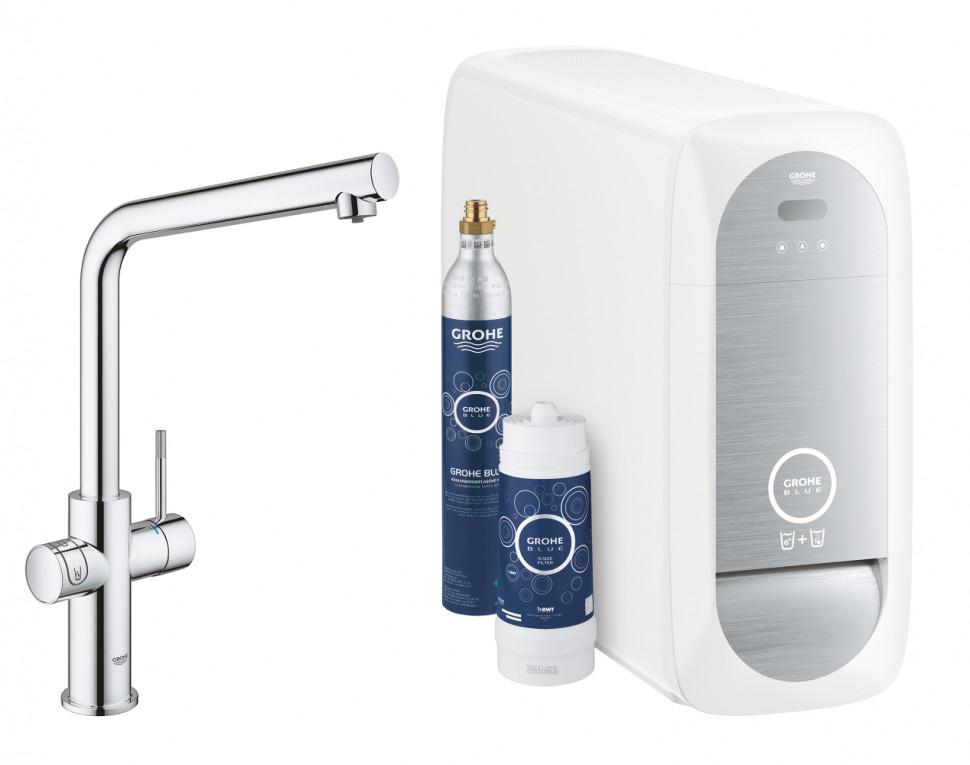 Смеситель для мойки с функцией очистки водопроводной воды Grohe Blue Home 31454000